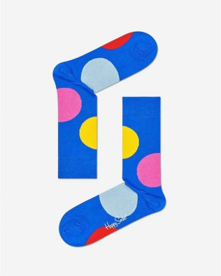 Skarpetki – kolorowe grochy, szafirowe