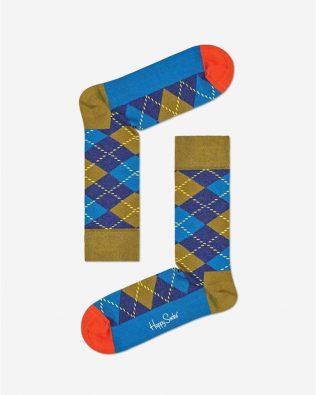 Skarpetki – szkocki wzór, granat z khaki