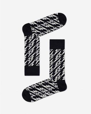 Skarpetki – wysokie napięcie, biało-czarne