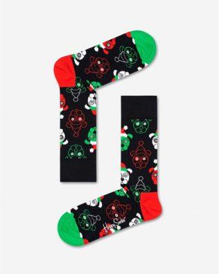 Skarpetki – świąteczne pieski, czarne