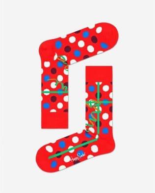 Skarpetki – świąteczny prezent, czerwone