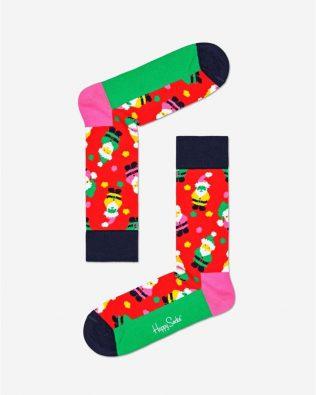 Skarpetki – mikołaje, czerwono-zielone