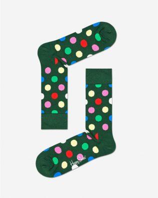 Skarpetki – kolorowe kropki, zielone