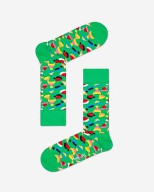 Skarpetki – czapeczki mikołaja, zielone