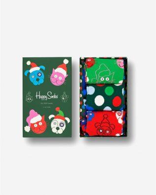 Skarpetki zestaw – świąteczne zwierzaki, kolorowe