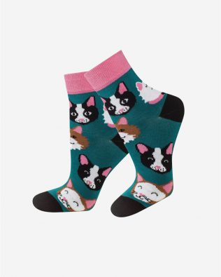 Skarpetki – kotki, ciemnozielone