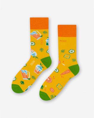 Skarpetki – sok marchewkowy, żółte