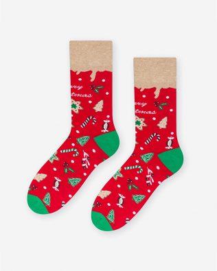 Skarpetki – świąteczne, czerwone