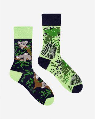 Skarpetki – miś koala, zielono-czarne