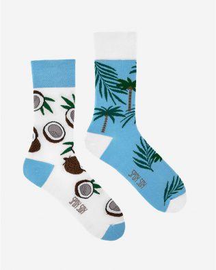 Skarpetki – kokosy, biało-niebieskie