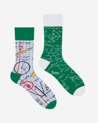 Skarpetki – matematyka, zielono-białe