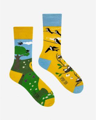 Skarpetki – jaskółki, żółto-zielone