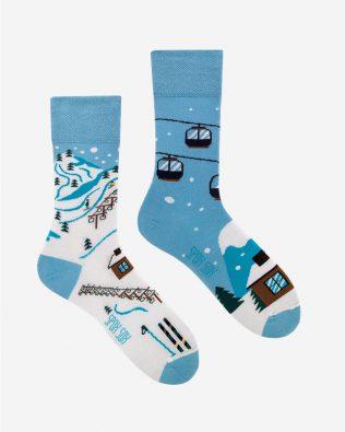 Skarpetki – wyciąg narciarski, niebieskie
