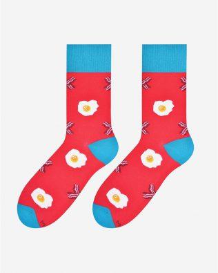 Skarpetki – jajka i bekon, malinowe