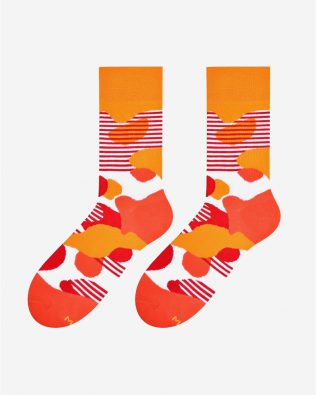 Skarpetki – plamy i plamki, pomarańczowe