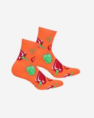 Skarpetki – papryki, pomarańczowe