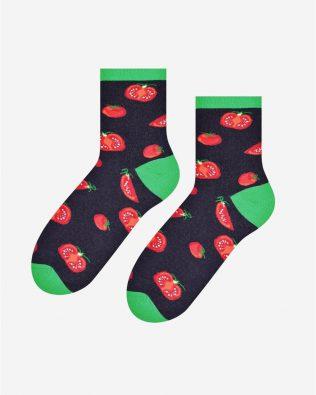 Skarpetki – pomidory, czarne