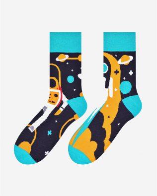 Skarpetki – kosmonauta, grafitowo-niebieskie