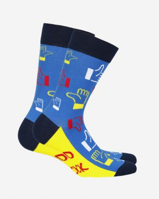 Skarpetki – kciuki, niebiesko-żółte