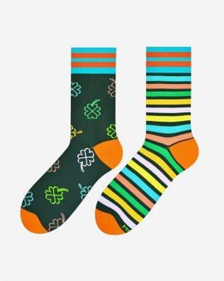 Skarpetki – koniczyna, zielono-kolorowe