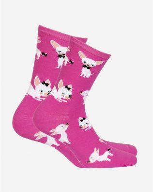 Skarpetki – pieski, różowe