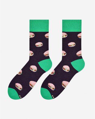 Skarpetki – hamburgery, brązowe