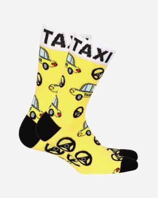 Skarpetki – taxi, żółte
