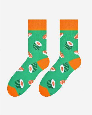 Skarpetki – sushi, zielone