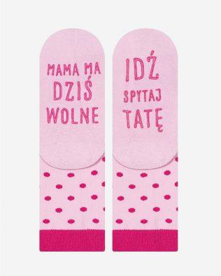 Skarpetki – mama ma wolne, różowe