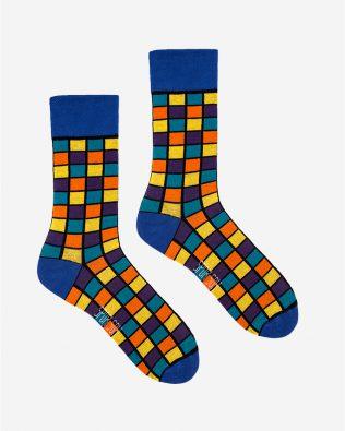 Skarpetki – kwadraty, kolorowe