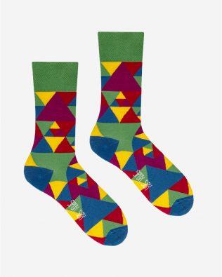 Skarpetki – trójkąty, kolorowe
