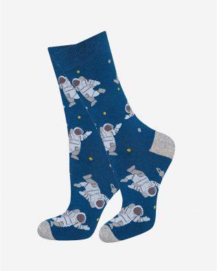 Skarpetki – kosmonauta, niebieskie