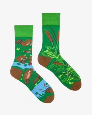 Skarpetki – bobry, zielone
