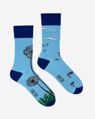 Skarpetki – dmuchawce, niebieskie