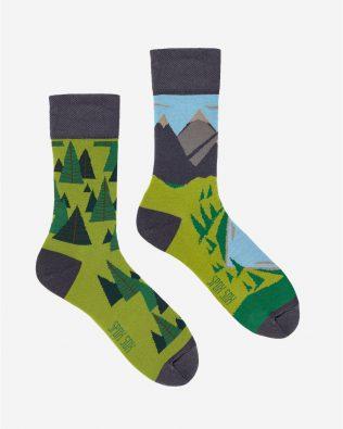 Skarpetki – góry i lasy, zielone