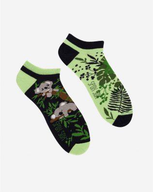 Skarpetki stopki – miś koala, zielono-czarne