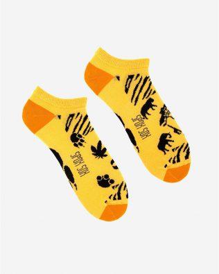 Skarpetki stopki – safari, żółte
