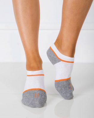 Skarpetki stopki – biało-pomarańczowo-szare