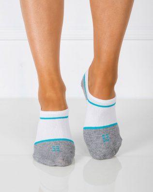 Skarpetki stopki – biało-turkusowe