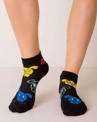 Skarpetki stopki – pieski, czarne