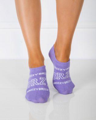 Skarpetki stopki – białe napisy, fioletowe