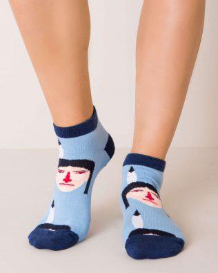 Skarpetki stopki – indianin, niebieskie