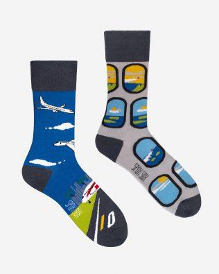 Skarpetki – samoloty, szaro-niebieskie