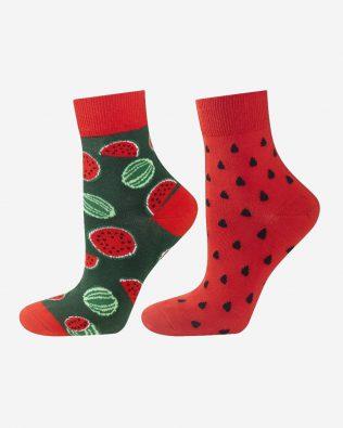 Skarpetki – arbuz, zielono-czerwone