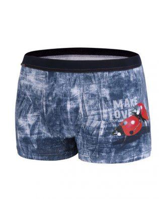 Bokserki męskie – love biedronki, jeans