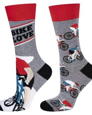 Skarpetki – rowerzyści, szare