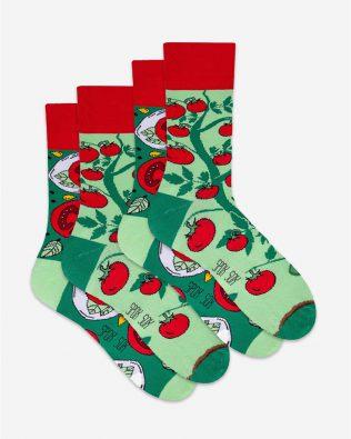 Skarpetki – 2-pak, pomidory, zielone