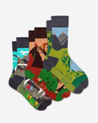 Skarpetki – 3-pak, wspinaczka, rower i góry, kolorowe