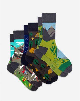 Skarpetki – 3-pak, wspinaczka, biwak i góry, kolorowe